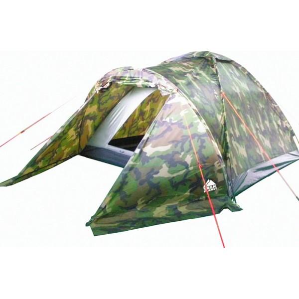 Палатка Trek Planet Forester 2 трекинговаяОднослойная камуфляжная двухместная палатка Trek Planet Forester 2 станет необходимым атрибутом похода, рыбалки или охоты. Благодаря камуфляжной расцветке, не привлекает лишнего внимания на природе. Большое преимущество этой палатки в том, что в ней есть удобный тамбур, куда можно убрать вещи и обувь.<br><br><br>Палатка легко и быстро устанавливается,<br><br>Тент палатки из полиэстера, с пропиткой PU водостойкостью 1000 мм, надежно защитит от дождя и ветра,<br><br>Все швы проклеены,<br><br>Каркас выполнен из прочного стеклопластика,<br><br>Дно изготовлено из прочного армированного полиэтилена,<br><br>Палатка оснащена вместительным и защищенным от непогоды тамбуром,<br><br>Вентиляционное окно сверху палатки не дает скапливаться конденсату на стенках палатки,<br><br>Москитная сетка на входе в спальное отделение в полный размер двери,<br><br>Удобная D-образная дверь на входе в палатку,<br><br>Внутренние карманы для мелочей,<br><br>Возможность подвески фонаря в палатке.<br><br>Для удобства транспортировки и хранения предусмотрен чехол с двумя ручками, закрывающийся на застежку-молнию.<br><br>Вес кг: 2.60000000