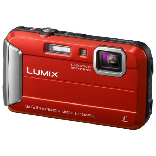 Фотоаппарат Panasonic Lumix DMC-FT30 компактныйУниверсальная, стильная и надежная фотокамера. LUMIX DMC-FT30 отличается повышенной надежностью и работает под водой на глубине до 8 м / 26 футов. Режимы замедленной съемки, Творческой панорамы и масса прочих, а также богатый арсенал замечательных фильтров делают работу с камерой еще приятнее.<br><br>Вес кг: 0.20000000