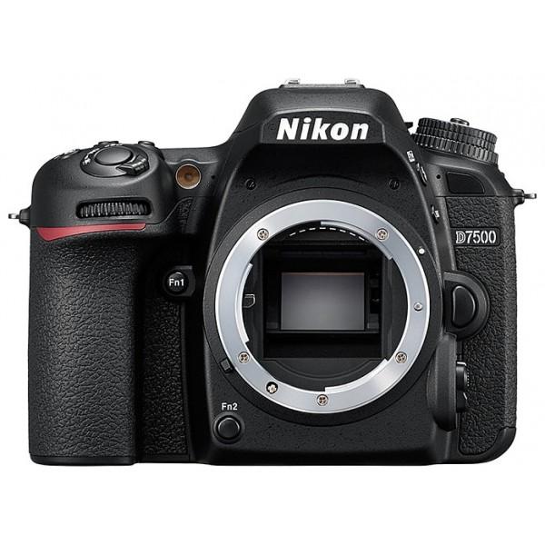 Фотоаппарат Nikon D7500 Body зеркальныйПогоня за идеальным снимком может увести вас в любые дали. Вашей надежной спутницей в этом путешествии станет мощная и быстрая фотокамера D7500, обладающая широкими возможностями связи. Запечатлейте всю красоту мира благодаря превосходному качеству изображения формата DX, унаследованному от флагманской модели Nikon D500.<br><br>Погоня за идеальным снимком может увести вас в любые дали. Вашей надежной спутницей в этом путешествии станет мощная и быстрая фотокамера D7500, обладающая широкими возможностями связи. Запечатлейте всю красоту мира благодаря превосходному качеству изображения формата DX, унаследованному от флагманской модели Nikon D500.<br><br>Фотокамера D7500 создает четкие изображения с высокой детализацией и богатыми тональными градациями. Вы оцените исключительно точное распознавание объектов съемки и превосходное качество изображения даже при высоких значениях чувствительности ISO. Качество видеороликов в формате 4K/UHD впечатляет. А с помощью встроенной системы Picture Control можно с легкостью создавать фотографии и видеоролики, соответствующие вашему творческому стилю.<br><br>Быстрая система обработки изображений Nikon EXPEED 5 гарантирует исключительное качество изображений во всем диапазоне чувствительности ISO. Количество мелких шумов существенно снизилось, и даже кадрированные изображения, снятые при высоких значениях ISO, сохраняют свое качество. С помощью настройки Hi-5 можно увеличить чувствительность до эквивалента 1 640 000 единиц ISO, что позволяет работать практически в полной темноте.<br><br>Сочетание 180K-пиксельного датчика RGB для замера экспозиции и улучшенной системы распознавания сюжетов гарантируют получение удачного кадра даже при съемке небольших или быстро движущихся объектов. При съемке высококонтрастных сюжетов новый метод замера экспозиции по ярким участкам отдает приоритет ярчайшим элементам кадра, позволяя избежать пересвеченных изображений.<br><br>Система АФ с 15 центральными датчикам