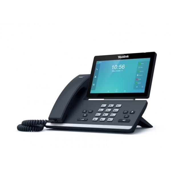 IP-видеотелефон Yealink SIP-T58AYealink SIP-T58A — видеотелефон под управлением ОС Android 5.1.1 с цветным 7 LCD-экраном с touch-screen, отличающийся от Yealink SIP-T58V отсутствием USB-камеры Yealink CAM50. Подходит пользователям, перед которыми стоит задача принимать видео от участников конференции, но не передавать его самому, и позволяет уменьшить затраты. При необходимости, USB-камера может быть куплена дополнительно.<br><br>Устройство имеет два USB-разъема (в верхней части устройства и на задней части корпуса), в которые подключаются Yealink CAM50, USB-гарнитура, флешка для записи разговоров и скриншотов или модуль расширения Yealink EXP50. Встроенный Bluetooth 4.0+ EDR позволяет подключить к устройству беспроводную гарнитуру или синхронизировать его с мобильным устройством. Аппарат кастомизируется под требования заказчика (логотипы, заставки на экране, фирменные мелодии), администратор системы также может установить все необходимые приложения для эффективной работы и коммуникации. Телефон поддерживает питание по PoE, однако в случае подключения к беспроводной сети за счет встроенного WiFi-модуля необходимо подключить адаптер питания от электрической розетки (в комплект не входит).<br><br>Как и персональный видеотерминал Yealink SIP VP-T49G, новый видеотелефон может создать пятистороннюю смешанную конференцию (3 видео + 2 аудиоучастника).<br><br>Вес кг: 1.90000000
