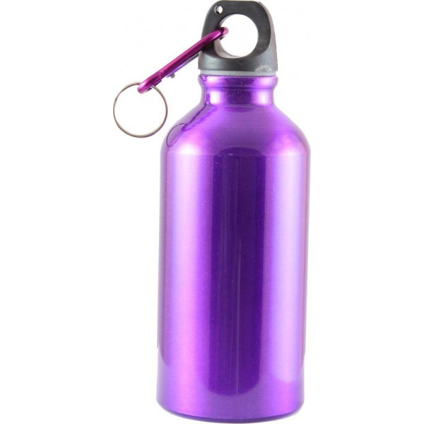 Бутылка питьевая Следопыт, алюм., с карабином, 400 млБутылка питьевая Следопыт, алюминевая., с карабином, 400 мл.<br><br>Доступные цвета: серебристый, красный, синий<br>