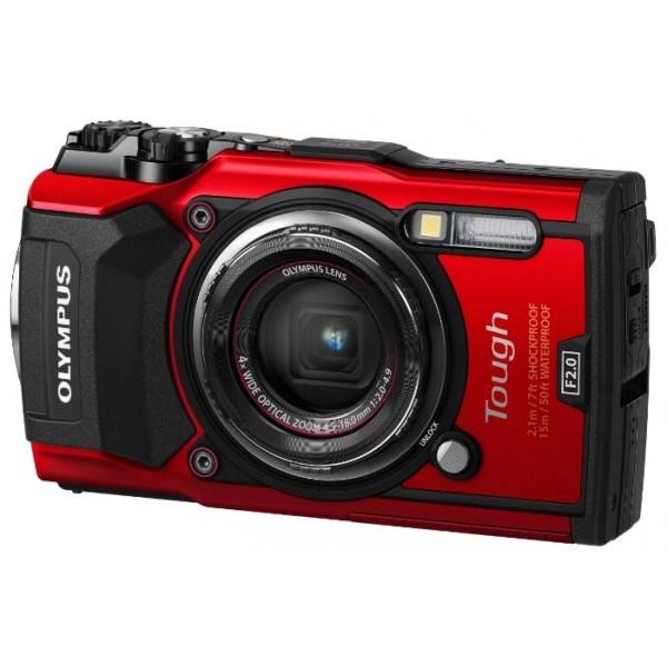 Фотоаппарат Olympus Tough TG-5 компактныйOlympus TG-5 - надежная водонепроницаемая камера. Мощный процессор TruePic VIII, современная матрица технологии BSI CMOS и светосильный объектив делают ее лидером по качеству изображения в классе защищенных камер. TG-5 снимает видео в UHD 4K и в Full HD, возможна высокоскоростная видеосъемка (120 кадров/с в Full HD или 240 кадров/с в HD). Ряд улучшений эргономики корпуса сделали использование камеры еще более удобным. Большое количество доступных аксессуаров, в числе которых широкоугольный конвертер, телеконвертер, макровспышки и бокс для глубоких погружений, делают TG-5 интересной камерой для широкого диапазона фотографов: любителей и профессионалов.<br><br>Вес кг: 0.50000000