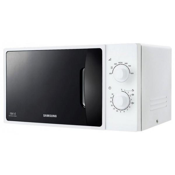 Микроволновая печь соло Samsung ME81ARWМикроволновая печь Соло ME81ARW, 23 л<br><br>Вместительная камера 23 литра при компактных размерах обычных 20-литровых моделей. Дополнительные 3 литра внутреннего объёма для вашего удобства.<br><br>БИОкерамическое покрытие микроволновых печей Samsung получило одобрение Института Хоэнштейн, Германия за свойства долговечности и антибактериальности. БИОкерамическое покрытие предотвращает размножение бактерий, а также более устойчиво к царапинам, чем покрытия из нержавеющей стали или эпоксидных материалов. Покрытие камеры выглядит новым даже после долгой эксплуатации.<br><br>Инженеры компании Samsung постоянно совершенствуют и улучшают рабочие характеристики своей продукции, используя для этого самые новейшие технологии. Наша уникальная система тройного распределения микроволн (Triple Distribution System) обеспечивает равномерный прогрев продуктов, начиная от пиццы и кончая нагревом стакана молока. Пользуясь нашими микроволновыми печами, Вы оцените удобство и комфорт процесса приготовления самых разнообразных блюд.<br><br>Вес кг: 13.00000000