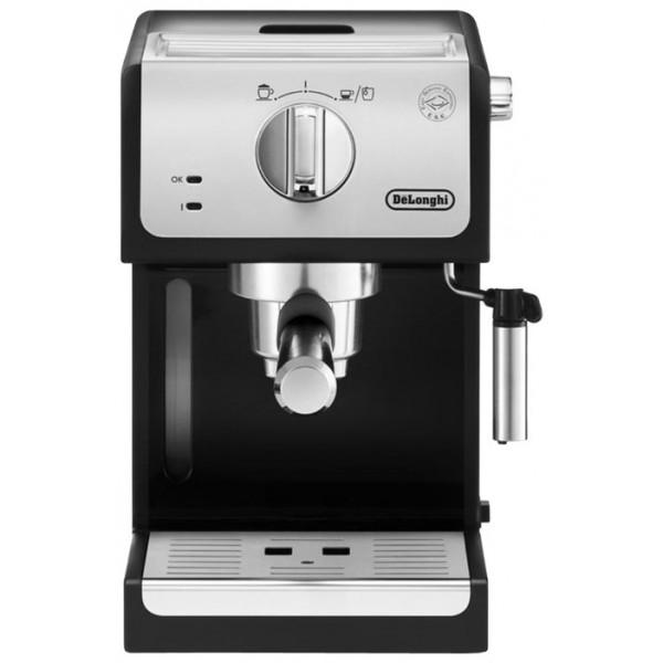 Кофеварка DL ECP 33.21Рожковая кофеварка ECP 33.21<br><br><br>Позволяет приготовить нежную воздушную пенку для капучино, а так же горячую воду для чая<br><br>Съемный резервуар для воды (1 л) и удобная система хранения аксессуаров<br><br>Фильтры в комплекте 3(1 чашка, 2 чашки, E.S.E.)<br><br>Новый эксклюзивный съемный поддон позволяет разместить чашки высотой до 13 см<br><br>Система автоотключения<br><br>Вес кг: 5.00000000