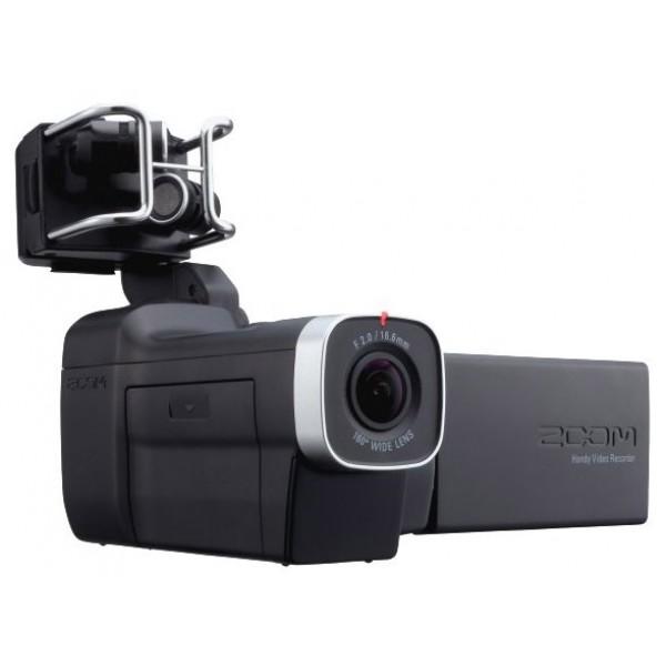 Видеорекордер ZOOM Q8Zoom Q8 объединяет в себе запись видео в формате HD и аудио высокого качества, что делает его идеальным инструментом для записи музыки и видео. 160-градусный широкоугольный объектив и цифровой зум, обеспечат вам полноценную картинку в любых условиях съемки. Добавьте к этому новаторскую систему сменных микрофонных капсюлей Zoom, а также два совмещенных разъема XLR-TRS, и в ваших руках целый арсенал возможностей аудиозаписи.<br><br>В комплект поставки Q8 входит специальный съемный микрофон типа X/Y. Кроме того, рекордер совместим практически со всеми микрофонными капсюлями от Zoom. Если вы уже пользовались рекордерами Zoom H5 или H6, то вы можете без проблем установить их сменные микрофонные капсюли на ваш Q8 (за исключением комбо-капсюля EXH-6 TRS/XLR).<br><br>Наряду с широким выбором функций, Q8 оснащен большим сенсорным LCD-дисплеем. Совмещенный разъем XLR/TRS позволит вам подключить внешний микрофон, а также линейный источник звука. Встроенный динамик и стерео-выход для наушников отлично подойдет для мониторинга аудио. Кроме того, в вашем распоряжении HDMI-выход для видео-мониторинга. Высококачественный 160-градусный широкоугольный объектив и гибкий подход к установке на штатив позволят вам проводить съемку практически в любых условиях. Кроме того, дополнительный USB-порт позволит вам подключить Q8 к компьютеру и использовать его для работы с онлайн-трансляциями и монтажом видео.<br><br>Вес кг: 0.50000000
