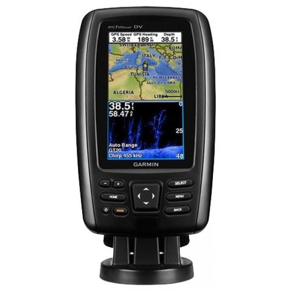 Эхолот-картплоттер Garmin echoMAP CHIRP 42cvЦветной дисплей с автоматически регулируемым уровнем яркости и комбинированный GPS/Glonass приемник, обновляющий местоположение до пяти (5) раз в секунду - вот лишь некоторые отличительные особенности картплоттера echoMAP CHIRP 42cv. Двухчастотный трансдьюсер с поддержкой технологии DownV? и HD-ID обеспечивает по настоящему фотографическое качество отображения структуры дна. В комплектацию устройства включены различные крепления для монтажа на транец или троллинговый мотор.<br><br>Установить на лодке echoMAP CHIRP 42cv очень просто - достаточно совсем немного времени, чтобы закрепить штатный держатель и проложить все провода. В дальнейшем вы просто снимаете устройство из крепления и уносите его с собой.<br><br>Возможности технологии CHIRP обеспечивают высокий уровень детализации благодаря отправке сигнала сразу на нескольких частотах. Это дает возможность получить больше информации за одну единицу времени по сравнению с привычными сонарами. Тем самым картинка на экране картплоттера с высочайшей точностью и четкостью отразит реальную обстановку под вашим судном.<br>