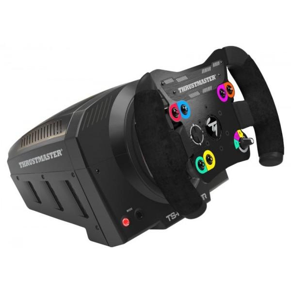 Руль Thrustmaster TS-PC Racer PCРулевая система Thrustmaster TS-PC Racer для ПК — мощный блок технологий<br><br><br>Система TS-PC Racer объединяет в себе целый спектр мощных технологий, призванных повысить игровые показатели и приблизить игровые впечатления к реальным для обеспечения полного погружения в игру. Сервобаза Thrustmaster TS-PC Servo, съемный руль разомкнутого типа с металлической центральной пластиной и замшевой облицовкой. СОВМЕСТИМОСТЬ С ЭКОСИСТЕМОЙ.<br><br>40-Вт бесщеточный мотор системы TS-PC Racer обеспечивает мощную силовую обратную связь и потрясающий вектор скорости (динамический крутящий момент) как на длинных виражах при заторможенном двигателе (режим STALL), так и в суперточных зигзагах (режим DYNAMIC).<br><br>Система встроенного охлаждения мотора Motor Cooling Embedded (подана заявка на патент) обеспечивает динамику нового мотора, защищая его от перегрева, и не создает лишнего шума.<br><br>Векторное управление: технология H.E.A.R.T (HallEffect AccuRate technology) предлагает 16-битное разрешение (65 536 значений), а новый алгоритм F.O.C. динамически оптимизирует уровень отклика при высоких требованиях к крутящему моменту.<br><br>Внешний блок питания TURBO обеспечивает постоянное питание и высокую пиковую мощность, что гарантирует моментальный отклик на самые быстрые команды от игры. Тороидальная конструкция дает, благодаря отсутствию ребер, оптимизированную энергоэффективность. Пиковая мощность: 400 Вт!<br><br>Содержимое упаковки: руль + база + блок питания T-Turbo + система крепления + руководство пользователя + информация о потребительской гарантии.<br><br>Совместимость: ПК<br>