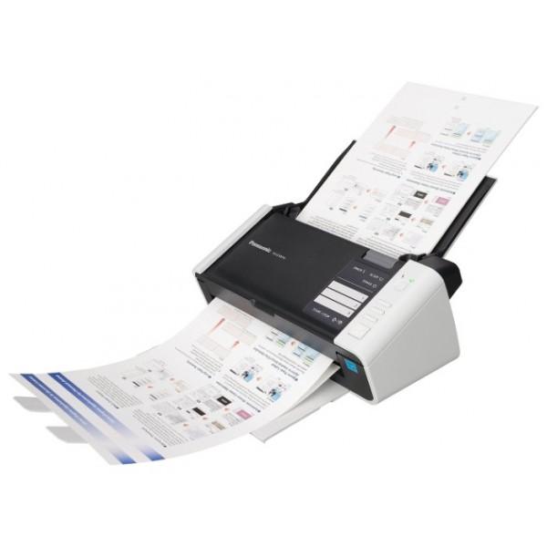Сканер Panasonic KV-S1015C (KV-S1015C-X) A4 белый/черныйKV-S1015C - полноцветный дуплексный документ-сканер Panasonic.<br><br><br>Одновременное двустороннее сканирование<br><br>Методы сканирования: Обе стороны: Цветной контактный датчик изображения (600 dpi)<br><br>Скорость сканирования (А4, широкой стороной): черно-белый/цветной режим (200dpi): 20 стр/мин (одностороннее сканирование), 40 изобр/мин (двухстороннее)<br><br>Разрешение: 100-600 dpi (с шагом 1 dpi) (монохромное и цветное)<br><br>Емкость податчика документов: 50 листов (80 г/м2); 3 пластиковые карты (ISO-7810 ID-1)<br><br>Размер оригинала: от 48x70 мм до 216x2540 мм<br><br>Плотность бумаги: от 40 до 209 г/м2<br><br>Ультразвуковое обнаружение двойной подачи<br><br>Автоматический разворот изображения<br><br>Работа с длинными документами<br><br>Динамическая настройка яркости, автоматическая обрезка изображения по формату, коррекция перекосов и удаление пустых страниц. Также, автоматическое определение типа изображения (полноцветное или монохромное)<br><br>Выводимое изображение: Монохромное (бинарное, полутоновое), 24-битный формат полноцветного изображения<br><br>Двухпоточное сканирование MultiStreamтм: в бинарном и полноцветном, бинарном и полутоновом режиме одновременно<br><br>Передача полутонов в бинарном режиме<br><br>Технологии Dither (64 градации серого), и Error Diffusion.<br><br>Вес кг: 2.70000000