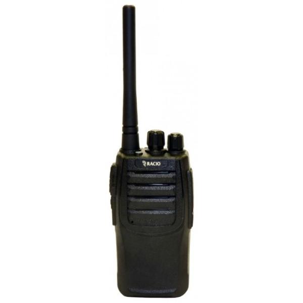 Радиостанция Racio R100Рация Racio R100 - отличное сочетание доступной цены и высокого качества. Прочный полимерный корпус на алюминиевом шасси, современная элементная база, компактные габариты, эффективная антенна, ёмкий аккумулятор, богатый программируемый функционал - достоинства этой рации можно перечислять долго. Рация работает в диапазоне UHF 400-470 МГц, что позволяет использовать безлицензионные LPD и PMR каналы. Выходная мощность рации до 2 Ватт, что вкупе с настроенной антенной обеспечивает приличную дальность связи и экономию заряда аккумулятора.<br><br>На боковую программируемую кнопку рации Racio R-100 может быть назначена одна из трёх функций: монитор, сканирование и включение/отключение скрэмблера. Инверсный скремблер обеспечивает базовый уровень секретности переговоров, сканирование помогает быстро обнаруживать полезный сигнал на одном из 16 каналов, функция MONI вручную отключает все виды шумоподавления для прослушивания слабого сигнала. С помощью специального ПО в рации настраивается CTCSS/DCS шумоподавление, частоты приёма и передачи, активируется и дезактивируется функция VOX, задаётся ширина канала, блокировка передачи на занятой частоте. Программное обеспечение интуитивно понятно и доступно для загрузки. Распространённый гарнитурный разъём стандарта Kenwood позволит подобрать множество гарнитур и тангент самых разных конструкций для Вашего удобства.<br><br>Вес кг: 0.50000000