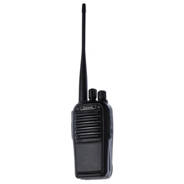Радиостанция Racio R700Мощная рация Racio R700 - отличное сочетание доступной цены и высокого качества. Прочный полимерный корпус на алюминиевом шасси, современная элементная база, компактные габариты, эффективная антенна, ёмкий аккумулятор, богатый программируемый функционал - достоинства этой рации можно перечислять долго. Рация работает в диапазоне UHF 400-470 МГц, что позволяет использовать как служебные, так и безлицензионные LPD и PMR каналы. Выходная мощность рации до 7 Ватт, что вкупе с настроенной антенной обеспечивает увеличенную дальность связи.<br><br>На боковую программируемую кнопку рации Racio R-700 может быть назначена одна из трёх функций: монитор, переключение уровней мощности либо экстренная сигнализация. Встроенный инверсный скремблер обеспечивает базовый уровень секретности переговоров. С помощью специального ПО в рации настраивается CTCSS/DCS шумоподавление, частоты приёма и передачи, активируется и дезактивируется функция VOX, задаётся ширина канала, блокировка передачи на занятой частоте. Программное обеспечение интуитивно понятно и доступно для загрузки. Распространённый гарнитурный разъём стандарта Kenwood позволит подобрать множество гарнитур и тангент самых разных конструкций для Вашего удобства.<br><br>Вес кг: 0.50000000