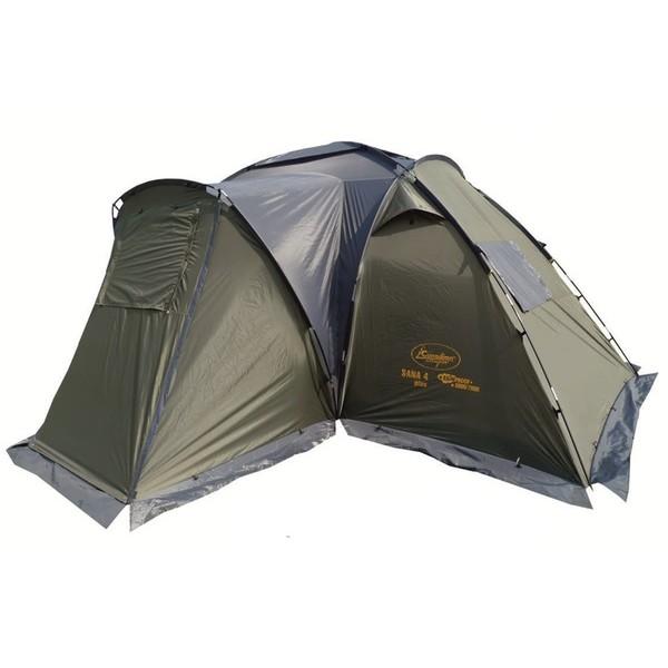 Палатка Canadian Camper SANA 4 PLUS Forest кемпинговаякемпинговая палатка, 4-местная, внешний каркас, дуги из стеклопластика, 2 входа / 2 комнаты, высокая водостойкость, вес: 13.6 кг<br><br>Вес кг: 13.70000000