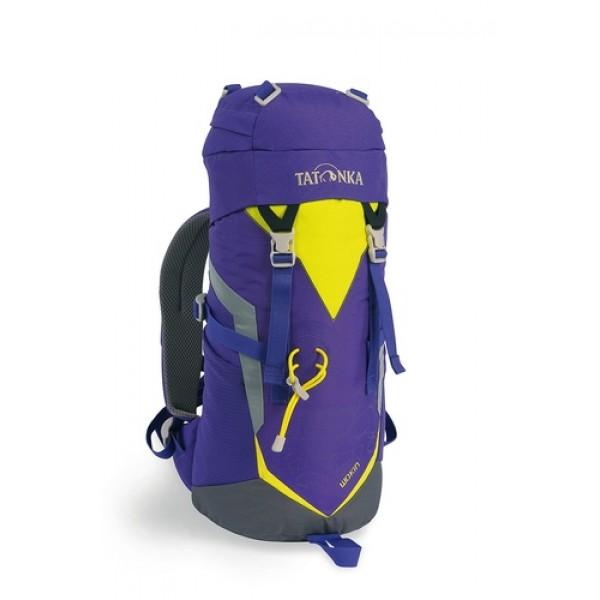 Рюкзак Tatonka Wokin 11 lilacЯркий и удобный рюкзак для путешественников старше 6 лет.<br>Трекинговый рюкзак для юных путешественников. Смягченная несущая система рюкзака приспособлена к телосложению ребенка, а спортивный дизайн делает его взрослым.<br><br><br>Несущая система Padded Back<br><br>Держатель для трекинговой палки<br><br>S-образный плечевой ремень<br><br>Регулируемый по высоте нагрудный ремень<br><br>Боковые утягивающие ремни<br><br>Удобная ручка<br><br>Карман на молнии в крышке рюкзака<br><br>Основное отделение на шнуровке<br><br>Боковые сетчатые карманы<br><br>Табличка для имени внутри рюкзака<br><br>Яркие светоотражающие элементы повышаю безопасность<br><br>Вес кг: 0.60000000