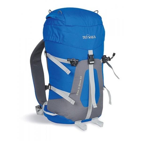 Рюкзак Tatonka Cima di Basso 35 blue/carbonЛегкий горный рюкзак. Отлично подходит для восхождений и короткого треккинга. Подвеска Padded Back и съемный поясной ремень обеспечивают отличную фиксацию рюкзака на спине. Боковые стяжки позволяют закрепить на рюкзаке веревку. Предусмотрено два места для крепления палок или ледоруба.<br><br><br>система подвески Padded Back<br><br>съемный поясной ремень<br><br>держатели для ледоруба<br><br>клапан в крышке рюкзака<br><br>боковые стяжки<br><br>Вес кг: 0.90000000