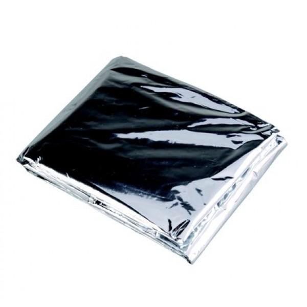 Покрывало Acecamp 3805 теплосберегающее экстренное сереброОтражает до 80% тепла тела. Водо- и ветронепроницаемый. Остается эластичным при температуре ниже нуля. Достаточно маленький, чтобы поместиться в нагрудном кармане.<br><br>Вес кг: 0.10000000