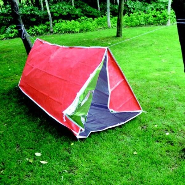 Палатка Acecamp 3954 термосберегающая, многослойнаяЛегкая и прочная экстренная палатка. Оранжевый цвет снаружи, серебристый цвет внутри. Отражает и сохраняет тепло, чтобы согреться. Простая установка - колышки и стропа для оттяжки потолка включена в комплект. Ветро- и водонепроницаемая. Необходимая вещь для использования в любых условиях.<br>