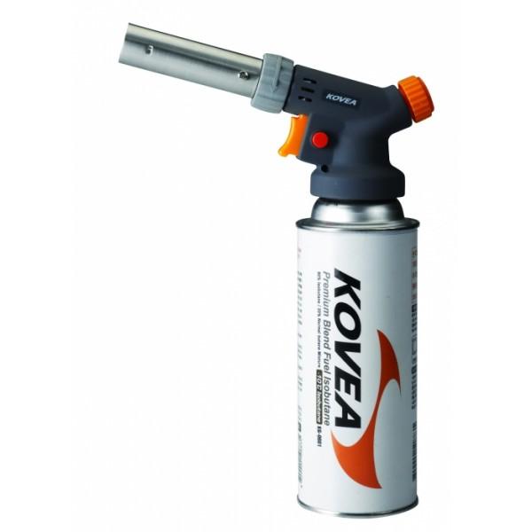 Резак газовый Kovea Auto KT-1209Газовый резак KT-1209 Cook Master - резак средней мощности разработанный специально для нужд кулинаров, но способный выполнять и технические работы. Оборудован мульти-регулировкой пламени для тонкой регулировки газовой струи, имеет пьезоподжиг и блокировку поджига. Температура пламени может достигать 1300 °C. Газовый резак оборудован системой предварительного разогрева газа, что позволяет свободно вращать резак для комфортной работы, сохраняя при этом стабильный поток пламени. Газовый резак рассчитан для работы с высоким цанговым газовым баллоном Kovea KGF-0220, не подходит для работы с баллонами резьбового стандарта, так как не предусмотрена установка переходника.<br><br>Вес кг: 0.20000000