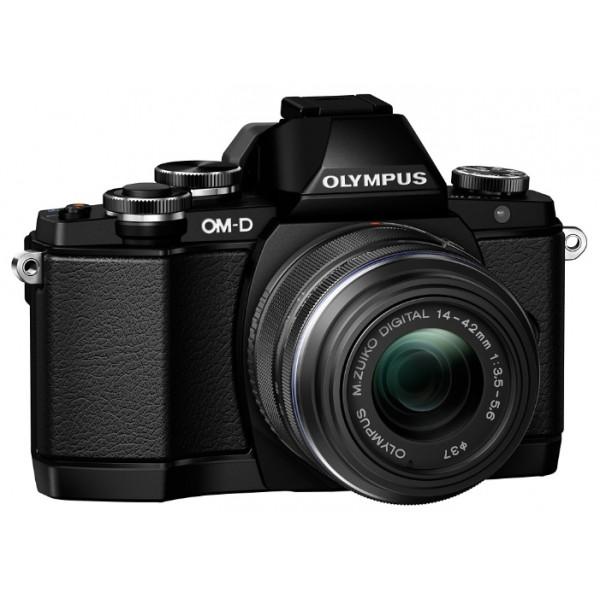 Фотоаппарат Olympus OM-D E-M10 Kit 14-42 II R Black со сменной оптикойфотокамера с поддержкой сменных объективов, байонет Micro Four Thirds, объектив в комплекте, модель уточняйте у продавца, матрица 17.2 МП (17.3 x 13.0 мм), съемка видео Full HD, поворотный сенсорный экран 3, Wi-Fi, влагозащищенный корпус, вес камеры без объектива 396 г<br><br>Вес кг: 0.40000000