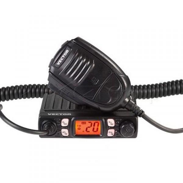 Радиостанция Vector VT-27 Smart Turbo АвтоVector VT-27 Smart Turbo — безлицензионная радиостанция Vector с профессиональной обработкой ProMem на 10 энергонезависимых ячеек. Отличается крайне малыми размерами и весом (всего 285 г). Работает в диапазоне СБ (26 – 27 МГц), есть AM и FM модуляции, память на 80 или 900 каналов. Корпус прочный, дюралюминиевый, с рассеиванием тепла, снабжен дисплеем и функциональными клавишами, в том числе переключателем аварийных каналов. Дисплей жидкокристаллический, с подсветкой, монохромный. Сканирование интеллектуальное, по ячейкам памяти и каналам. Шумоподавление осуществляется в ручном режиме и спектральным шумоподавителем. Каналы можно переключать прямо с микрофона. От аналога отличается повышенной дальностью связи. При необходимости радиостанцию Vector VT-27 Smart Turbo можно дополнить другими функциями благодаря наличию flash-памяти и CPU.<br><br>Вес кг: 0.30000000