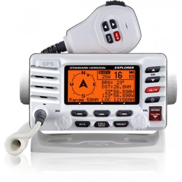 Радиостанция Standard Horizon GX-1700E + РРР морскаяStandard Horizon GX-1700E — простая в установке и использовании бортовая радиостанция со встроенным GPS-приемником и функциями Цифрового избирательного вызова (ЦИВ) класса D.<br><br>C GX1700E использовать функциональные возможности DSC просто как никогда! Благодаря оснащенности 12-канальным GPS-приемником, морская радиостанция Standard Horizon GX-1700E без подключения дополнительного GPS-оборудования позволяет совершать DSC-вызовы, отправлять данные о местоположении, отображает компас на дисплее радиостанции и помогает осуществлять навигацию до выбранной путевой точки.<br><br>Ультратонкое компактное исполнение делает установку радиостанции очень простой и быстрой.<br><br>Дисплей модели — большой, яркий и контрастный, обеспечивает отличную видимость всех выводимых на него данных. Кроме того, судовая радиостанция Standard Horizon GX-1700E защищена от воды и способна выдержать погружение на полутораметровую глубину на полчаса.<br><br><br>Интегрированный приемник GPS/WAAS<br><br>Встроенная в переднюю панель GPS-антенна обеспечивает возможность приема сигнала при установке на кронштейн или заподлицо<br><br>Ультратонкий и компактный корпус<br><br>Соответствие ITU-R M493-13 Класс D DSC<br><br>Тестовый вызов DSC<br><br>Автоматический запрос GPS-данных у 4 судов, использующих ЦИВ<br><br>Ввод и сохранение путевых точек<br><br>Навигация до путевых точек с отображением компаса на экране<br><br>Вывод на дисплей навигационных данных: LAT/LON, Time, SOG и COG<br><br>Водозащищенность JIS-8: погружение в воду на 1,5 м на 30 минут<br><br>Микрофон с шумоподавлением и кнопками 16/9, H/L, Вверх/Вниз<br><br>Канал погоды NOAA и с функцией предупреждения<br><br>Программируемое и приоритетное сканирование, двойной мониторинг<br><br>Большой экран<br><br>Возможность задать названия каналов<br><br>Вход/выход NMEA для передачи GPS-данных на другие устройства<br><br>Программируемые кнопки<br><br>Вес кг: 1.00000000
