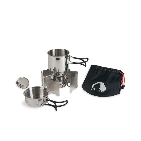 Набор посуды Tatonka Alcohol Burner Set 4133 в комплекте с горелкойОтличный набор для одного человека! В комплекте: спиртовая горелка, складной ветрозащитный экран и кружка, тарелочка, упаковочный мешок.<br><br>Вес кг: 0.60000000