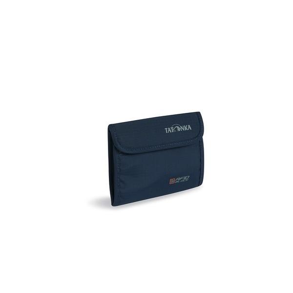 Кошелек Tatonka Euro Wallet RFID navyКошелек с защитой от считывания данных.Подходит для хранения платиковых карт, бумажных денег и монет. В кошельке имеется множество отделений. Для производства серии RFID Block используется специальный внутренний металлизированный слой материала CRYPTALLOY. Он предотварщает дистанционное считывание данных с чипа, находящегося в Вашей пластиковой карте, паспорте или в других документах с чипами.<br><br>Специальный слой материала, защищающий чипы с данными<br>Кармашек на молнии<br>Кошелек закрывается на широкую липучку<br>Множество отделений<br><br>Вес кг: 0.10000000
