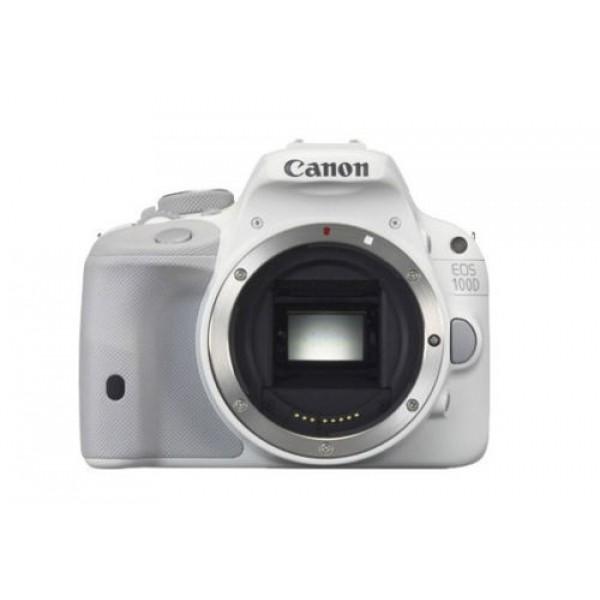 Зеркальный фотоаппарат Canon 100D Body Whiteлюбительская зеркальная фотокамера, байонет Canon EF/EF-S, без объектива в комплекте, матрица 18.5 МП (APS-C), съемка видео Full HD, сенсорный экран 3, вес камеры 407 г<br><br>Вес кг: 0.50000000