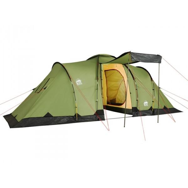 Палатка KSL Macon 6кемпинговая палатка, 6-местная, внешний каркас, дуги из стеклопластика, 2 входа / 2 комнаты, высокая водостойкость дна, вес: 13.5 кг, огнеупорная пропитка<br><br>Вес кг: 14.30000000