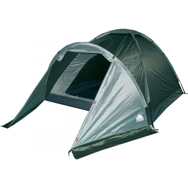 Палатка Trek Planet Toronto 2 трекинговаяДвухместная туристическая палатка с тамбуром Trek Planet Toronto 2 легкая, прочная и простая в установке. Палатка хорошо подходит для походов выходного дня. Имеет удобный тамбур для вещей, прочный пол, хорошо вентилируется и защитит вас от непогоды. Легко быстро устанавливается, даже в одиночку.<br><br><br>Палатка легко и быстро устанавливается,<br><br>Палатка оснащена вместительным и защищенным от непогоды тамбуром,<br><br>Тент палатки из полиэстера, с пропиткой PU водостойкостью 1000 мм, надежно защитит от дождя и ветра,<br><br>Все швы проклеены, Каркас выполнен из прочного стекловолокна,<br><br>Дно изготовлено из прочного армированного полиэтилена,<br><br>Вентиляционное окно сверху палатки не дает скапливаться конденсату на стенках палатки,<br><br>Москитная сетка на входе в спальное отделение в полный размер двери,<br><br>Удобная D-образная дверь на входе в палатку,<br><br>Внутренние карманы для мелочей,<br><br>Возможность подвески фонаря в палатке.<br><br>Для удобства транспортировки и хранения предусмотрен чехол с двумя ручками, закрывающийся на застежку-молнию.<br><br>Вес кг: 2.60000000