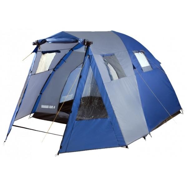 Палатка Trek Planet Dahab Air 5 кемпинговаяСемейная пятиместная двухслойная палатка Dahab Air 5 отлично вентилируется даже в жаркую погоду за счет двух входов в спальное отделение с противоположных сторон и дополнительных вентиляционных окон. Палатка имеет высокую ветроустойчивость благодаря комбинированному каркасу из стальных стоек и стекловолоконных дуг. Во вместительном светлом тамбуре вы разместите все необходимые вещи и походную столовую. Отлично подойдет для отдыха выходного дня и продолжительного кемпинга.<br><br><br>Тент палатки из полиэстера с пропиткой PU надежно защищает от дождя и ветра,<br><br>Все швы проклеены,<br><br>Высокий, вместительный и светлый тамбур,<br><br>Четыре обзорных окна со шторкой во тамбуре,<br><br>Дно из прочного водонепроницаемого армированного полиэтилена позволяет устанавливать палатку на жесткой траве, песчаной поверхности, глине и т.д.<br><br>Дуги из прочного стеклопластика,<br><br>Внутренняя палатка из дышащего полиэстера, обеспечивает вентиляцию помещения и позволяет конденсату испаряться, не проникая внутрь палатки;<br><br>Два входа во внутреннюю палатку с противоположных сторон,<br><br>Вентиляционные окна в спальном отделении,<br><br>Москитная сетка на каждом входе во внутреннюю палатку в полный размер двери,<br><br>Внутренние карманы для мелочей во внутренней палатке,<br><br>Возможность подвески фонаря в палатке,<br><br>Для удобства транспортировки и хранения предусмотрен чехол из прочного полиэстера OXFORD, с двумя ручками и закрывающийся на застежку-молнию.<br><br>Вес кг: 9.90000000
