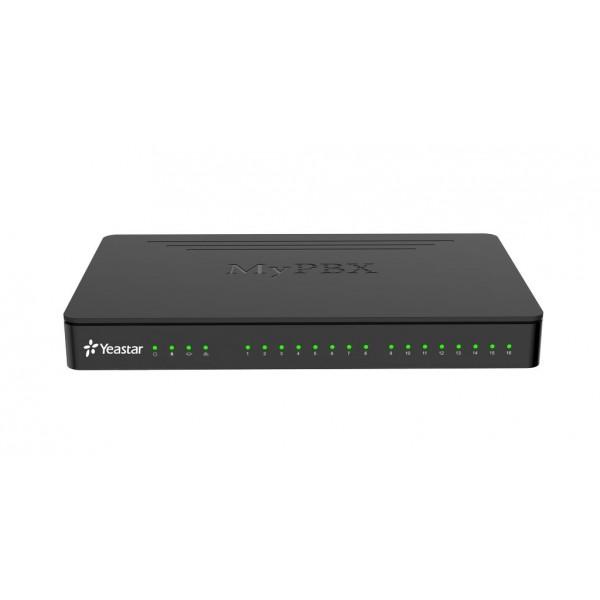 IP АТС Yeastar MyPBX StandardYeastar MyPBX Standard — это обновлённая модель гибридной IP-ATC на 100 пользователей Yeastar MyPBX 1600 v4. Изменения коснулись как аппаратного, так и программного обеспечения: новый ARM-процессор, увеличенный объём оперативной памяти, увеличенное количество одновременных вызовов, обновленный интерфейс управления и множество новых функций. Кроме работы по VoIP-протоколам (SIP, IAX) MyPBX Standard позволяет подключать аналоговые линии/телефоны, линии GSM и линии BRI.<br><br>Вес кг: 1.50000000