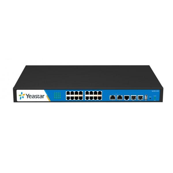 IP АТС Yeastar MyPBX U520Yeastar MyPBX U520 — старшая модель в линейке гибридных IP-ATC серии U5XX. MyPBX U520 поддерживает до 500 пользователей и до 80 одновременных разговоров. Отличительной особеностью MyPBX U520 является наличие 2-ух портов E1/T1/J1. IP-АТС оснащена двухъядерным процессором от компании Texas Instruments, что позволяет добиться быстродействия, стабильной работы и непревзойденного качества передачи голоса и видео!<br><br>Вес кг: 3.20000000