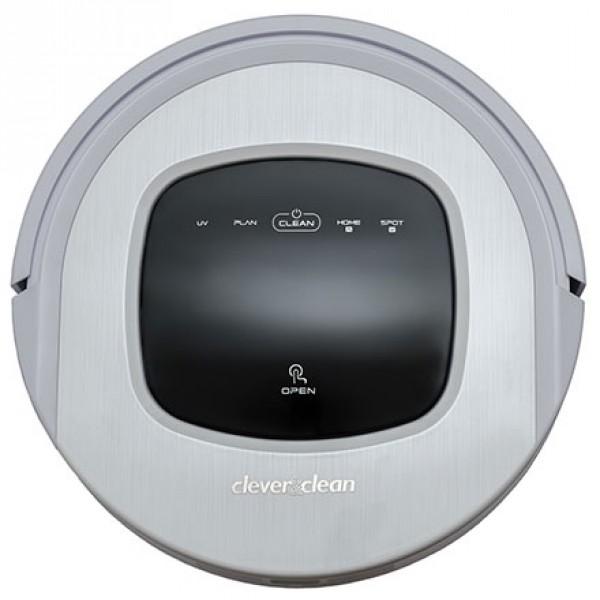 Робот-пылесос Clever&amp;Clean Aqua-series 01Робот-пылесос AQUA-series 01, предназначен для влажной уборки (протирки твердых поверхностей) таких как: плитка, линолеум, ламинат, паркет и пр. а также сухой уборки напольных покрытий в том числе ковров с коротким ворсом.<br><br>Робот-пылесос AQUA-Series 01 совмещает в себе стильный и компактный дизайн, корпус произведен с использованием современных высококачественных материалов с защитой от влаги и пыли. Отличительной чертой данного робота в линейке продукции Clever&amp;amp;Clean является функция влажной уборки пола, во время нее робот осуществляет протирку пола моющей панелью, на которую во время уборки поступает вода из специального отсека. Робот пылесос AQUA-Series 01 обладает следующим набором функций:<br><br><br>Дисплей и сенсорное управление на корпусе аппарата.<br><br>Голосовое меню на русском языке.<br><br>Автоматическое возвращение на базу зарядки после окончания уборки.<br><br>Программирование графика уборки на неделю.<br><br>Ультрафиолетовая лампа (UV) для дезинфекции пола.<br><br>Моющая панель со встроенной емкостью для подачи воды позволяет осуществить протирку пола.<br><br>Мультирежимная система уборки, используя комбинацию алгоритмов перемещения, таких как «убирает вдоль стен», «спираль», «зигзаг», «отражение» и пр., в совокупности с применением двухстороннего расположения боковых лопастных щеток, делает уборку еще эффективнее.<br><br>Сенсоры перепада высоты не позволяют роботу-пылесосу упасть со ступенек и определять иные перепады высоты.<br><br>Предусмотрена функция локальной уборки для быстрой очистки небольшого участка пола.<br><br>Двойная система фильтрации, стандартный и HEPA фильтры.<br><br>Система вертикального расположения контейнера для мусора делает, его очистку очень простой. Отсутствие длинных вращающихся щеток позволяет максимально упростить уход за роботом.<br><br>Удобный пульт дистанционного управления.<br>