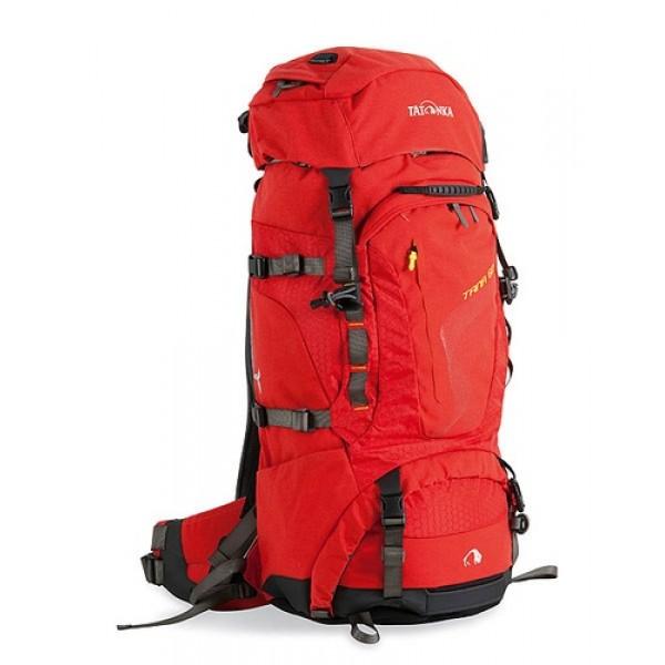 Рюкзак Tatonka Tana 60 red 1424.015Женская топ-модель рюкзака для переноски тяжелых грузов. Разработана на основе легендарного Bison 90 и в плане оснащения ни в чем ему не уступает. Система подвески Х-1 с регулируемой длиной спинки, мягкие анатомические плечевые и поясной ремни отлично распределяют нагрузку и значительно облегчают процесс.<br><br><br>Система подвески Х-1.<br><br>Мягкие анатомические плечевые ремни.<br><br>Регулируемая по высоте крышка-клапан с петлями.<br><br>Большой накладной карман на молнии.<br><br>Доступ в нижнее отделение на молнии.<br><br>Передний карман на молнии Thermo Fusion.<br><br>Боковые карманы, с одной стороны на молнии.<br><br>Мягкий регулируемый поясной ремень.<br><br>Ручки для переноски.<br><br>Крепления для палок или ледоруба.<br><br>Боковые стяжки.<br><br>Отделение для аптечки.<br><br>Держатель для ключей.<br><br>Дождевой чехол.<br><br>Дамский логотип.<br>