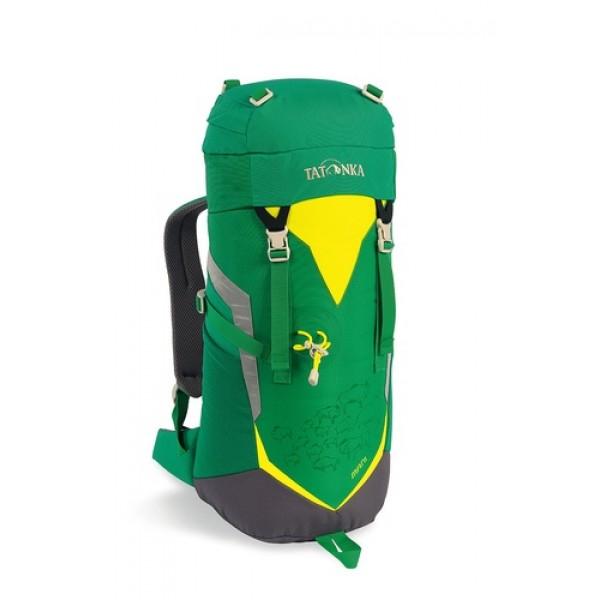 Рюкзак Tatonka Mani lawn greenТрекинговый рюкзак для юных путешественников. Смягченная несущая система рюкзака приспособлена к телосложению ребенка, а спортивный дизайн делает его взрослым.<br><br>Несущая система Padded Back<br>Держатель для трекинговой палки<br>S-образный плечевой ремень<br>Регулируемый по высоте нагрудный ремень<br>Боковые утягивающие ремни<br>Удобная ручка <br>Карман на молнии в крышке рюкзака<br>Основное отделение на шнуровке<br>Боковые сетчатые карманы<br>Табличка для имени внутри рюкзака<br>Яркие светоотражающие элементы повышаю безопасность<br><br>Вес кг: 0.60000000