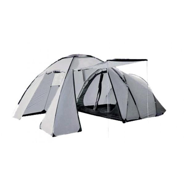 Палатка Talberg Camp 5Семейная кемпинговая палатка с большим тамбуром. Мест: 5. Вес: 13 кг. Конструкция: двухкомнатная палатка с двумя входами и убирающимся тентом-козырьком<br><br>Вес кг: 13.10000000