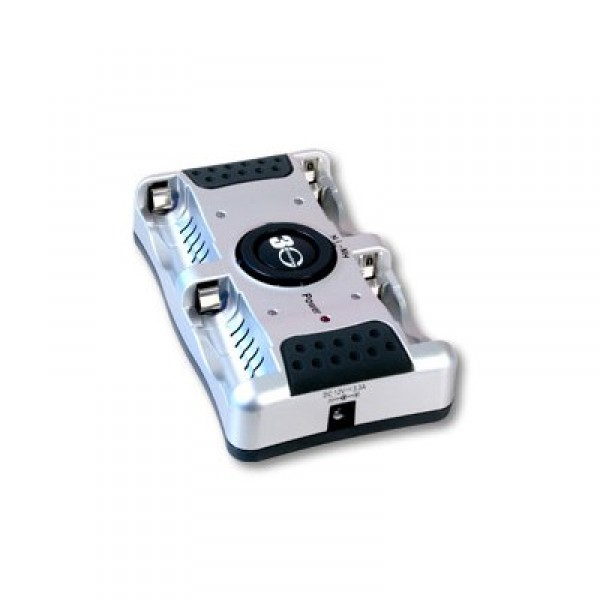 Зарядное устройство VANSON V-8000Зарядное устройство для быстрой зарядки аккумуляторных батареек формата АА и ААА. Заявленное время заряда для аккумуляторов емкостью 2700 мАч - 38 минут. В комплекте адаптеры питания от сети и прикуривателя. На жидко кристаллическом экране отображается заряд аккумуляторов и сообщение о поврежденном аккумуляторе. Встроено несколько систем защиты - защита от короткого замыкания, защита от перегрева аккумуляторов, защита от переполюсовки. У зарядного устройства Vanson V-8000 присутствует микропроцессорное управление, для каждого из 4 слотов зарядки есть свой индикатор LED.<br><br><br>Автомобильный адаптер в комплекте<br>Широкий диапазон входного напряжения сети (Возможность использования в разных странах)<br>     Микропроцессное управление зарядом<br>     Переходник на международные стандарты штепселей<br>     Умная индикация<br>     Таймер для предохранения от избыточной зарядки /Заряд по таймеру<br>     Защита от короткого замыкания<br>     Защита от перезаряда методом ?V<br>     Температурный сенсор<br>