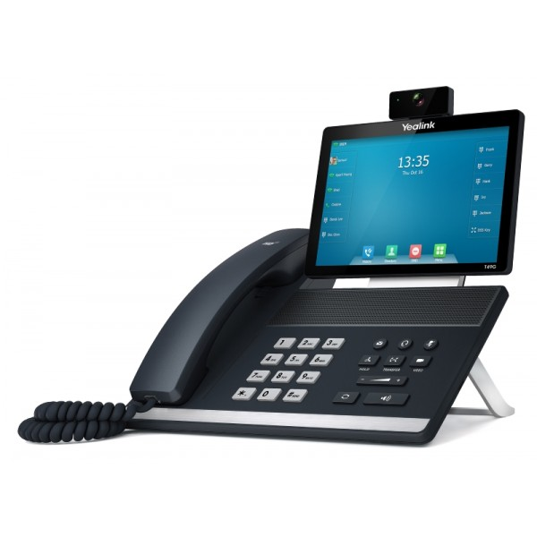 """IP-телефон Yealink SIP VP-T49GYealink SIP VP-T49G – новинка модельного ряда Yealink. Устройство совмещает в себе все достоинства персонального терминала видео-конференц-связи и IP-видео-телефона. Обладает цветным сенсорным 8"""" экраном с Multi-touch, 29-ю экранными программируемыми клавишами, возможностью подключения до 16 аккаунтов и создания 3-х сторонней видеоконференции. Аппарат подходит для использования как в качестве самостоятельного устройства, так и в сетях на основе любых современных ВКС-решений. Наличие стандартного HDMI разъема у SIP VP-T49G позволяет его владельцам выводить на свой настольный монитор изображение видеоконференции большого размера и высокого качества.<br><br>16 SIP-аккаунтов с независимой настройкой.<br>Удержание, отключение микрофона, DND (не беспокоить).<br>Быстрый набор, горячая линия.<br>Переадресация, режим ожидания, трансфер.<br>Групповое прослушивание, экстренный вызов.<br>Повторный набор, возврат вызова, автоответ.<br>Выбор мелодии/загрузка/удаление.<br>Настройка времени: автоматически и вручную.<br>Правила набора, XML-браузер, Action URL/URI.<br>RTCP-XR (RFC3611), VQ-RTCPXR (RFC6035).<br>3-х сторонняя видеоконференция.<br>5-ти сторонняя конференция (3 видео + 2 аудио).<br>HDMI-порт для подключения внешнего монитора.<br>USB 2.0 для подключения USB-носителя и медиа.<br>Экранная клавиатура.<br>"""