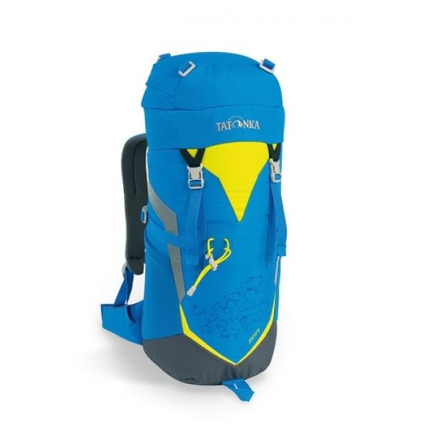 Рюкзак Tatonka Mani bright blueЯркий и удобный рюкзак для путешественников старше 10 лет. Трекинговый рюкзак для юных путешественников. Смягченная несущая система рюкзака приспособлена к телосложению ребенка, а спортивный дизайн делает его взрослым.<br><br>Несущая система Padded Back<br>Держатель для трекинговой палки<br>S-образный плечевой ремень<br>Регулируемый по высоте нагрудный ремень<br>Боковые утягивающие ремни<br>Удобная ручка <br>Карман на молнии в крышке рюкзака<br>Основное отделение на шнуровке<br>Боковые сетчатые карманы<br>Табличка для имени внутри рюкзака<br>Яркие светоотражающие элементы повышаю безопасность<br><br>Вес кг: 0.60000000