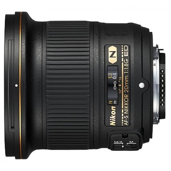 Объектив Nikon 20mm f/1.8G ED AF-S Nikkorширокоугольный объектив с постоянным ФР, крепление Nikon F, встроенный мотор, автоматическая фокусировка, минимальное расстояние фокусировки 0.2 м, размеры (DхL): 82.5x80.5 мм, вес: 355 г<br><br>Вес кг: 0.40000000