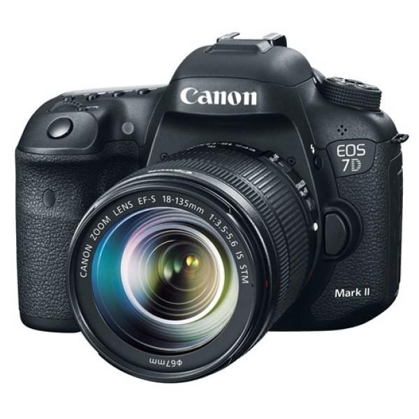 Зеркальный фотоаппарат Canon EOS 7D Mark II Kit 18-55 IS STMПродвинутая зеркальная фотокамера, байонет Canon EF/EF-S, объектив в комплекте, матрица 20.9 МП (APS-C), съемка видео Full HD, экран 3, вес без элементов питания и объектива 820 г<br><br>Вес кг: 0.90000000