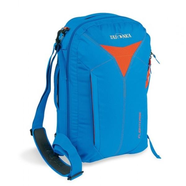 Сумка-рюкзак Tatonka Flightcase bright blueДорожная сумка для авиаперелетов. Соответствует требованиям ЕС к размерам ручной клади в самолетах. Переносить можно за ручку, на плече и как рюкзак.<br><br>Соответствует требованиям ЕС к размерам ручной клади.<br>Ручки для переноски.<br>Съемный плечевой ремень.<br>Убирающиеся лямки.<br>Функциональное основное отделение.<br>Боковые стяжки.<br>Табличка для имени влвдельца.<br>Внешний накладной карман.<br><br>Вес кг: 1.40000000