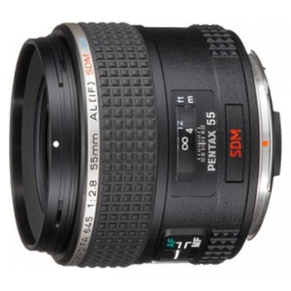 Объектив Pentax SMC D FA 645 55mm f/2.8 AL (IF) SDW AWСтандартный объектив с постоянным ФР, <br>крепление Pentax 645, <br>автоматическая фокусировка, <br>минимальное расстояние фокусировки 0.5 м, <br>размеры (DхL): 68.2x81.3 мм, <br>вес: 416 г<br><br>Вес кг: 0.50000000
