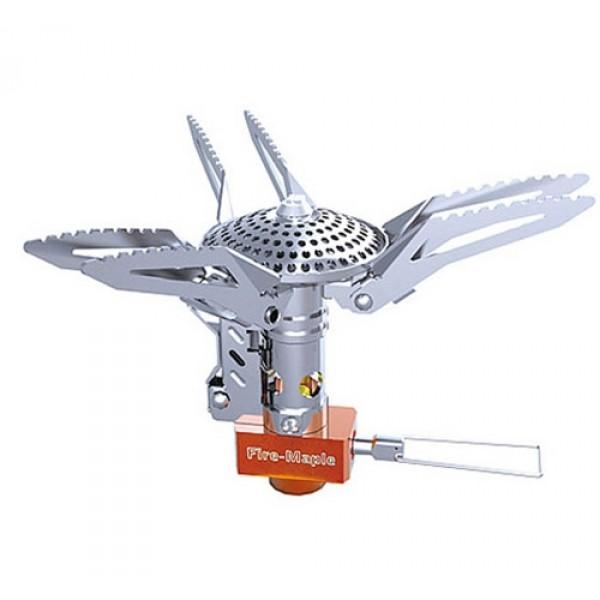 Горелка газовая Fire-Maple FMS-200 портативнаяГазовая портативная горелка FMS-200 - небольшая, но мощная горелка с пьезоподжигом. Парная система лапок-держателей обеспечивает полезную площадь для посуды в 136 мм - это самый большой показатель из всех представленных газовых горелок без шланга. Лапки-держатели легко складываются вдоль корпуса горелки для более компактной транспортировки. Зубцы наряду с парной системой лапок-держателей лучше удерживают посуду, не позволяя ей двигаться при готовке. Плоская конфорка и удлиненный корпус обеспечивают большую мощность даже при применении комбинированного топлива. Оснащеная система пьезоэлектрического поджига продлевает срок службы запала и облегчает успешное зажигание. Это новый образец горелки, сочетающей в себе большую мощность и внушительный диаметр полезной площади для посуды. Газовая портативная горелка FMS-200 снабжена ниппелем, особой системой предотвращения потери топлива при многократном подсоединении и отсоединении сменного картриджа. Это позволяет в разы снизить расход жизненно необходимого топлива в путешествии. Эта модель отлично подходит для использования с резьбовыми сменными картриджами любых типов. Возможно подсоединение к цанговому баллону при помощи адаптера FMS-701.<br><br>Модель производится с 2010 года.<br><br>Вес кг: 0.20000000