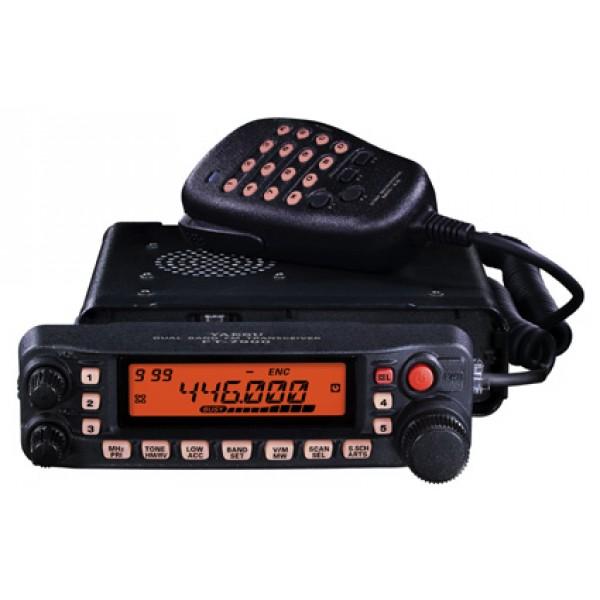 Радиостанция Yaesu FT-7900R автоРадиостанция Yaesu FT-7900R - двухдиапазонный трансивер, работающий в диапазоне частот 2 м и 70 см. Предусмотрена высокая выходная мощность: 50 Вт на 2 м и 45 Вт на 430 МГц. Встроен CTCSS/DCS кодер/декодер, WIRES-совместимость, доступны свыше 1000 каналов памяти. Хорошо продуманная передняя панель радиостанции FT-7900 обеспечивает простую и надежную работу. Рация идеальна для пользователей, которым не требуется разнесенный прием, как в FT-8800R и FT-8900R. Трансивер FT-7900R отлично принимает в диапазоне 108 - 520 и 700 - 900 МГц. Работа с этой радиостанцией проста и удобна, вы можете программировать ее в соответствии со своими предпочтениями с помощью системы меню. Рация FT-7900R оснащена системой ARTS™ (Auto-Range Transponder System), что важно в поисковых и спасательных операциях. ARTS обеспечивает связь с другими оборудованными этой системой трансиверами и показывает, находятся они вне или в зоне доступа. Также, во время ARTS операций, для вашей станции каждые 10 минут обеспечивается 6-значный телеграфный идентификатор. Радиостанция FT-7900R похожа на FT-7800R, но в ней добавлен режим Только память и она на 5 Вт мощнее в диапазоне 430-440 МГц. FT-7900R поставляется вместе с автомобильным креплением MMB-36, кабелем питания и DTMF-микрофоном MH-48A8J с подсветкой.<br><br>Вес кг: 1.10000000