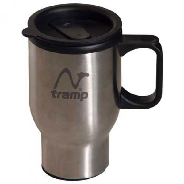 Кружка Tramp TRC-004Термокружка - долго сохраняет тепло. Крышка-поилка из термостойкого пластика предохраняет от проливания жидкости и не дает напитку остыть. <br>Из кружки легко пить во время поездки на автомобиле или поезде.<br>