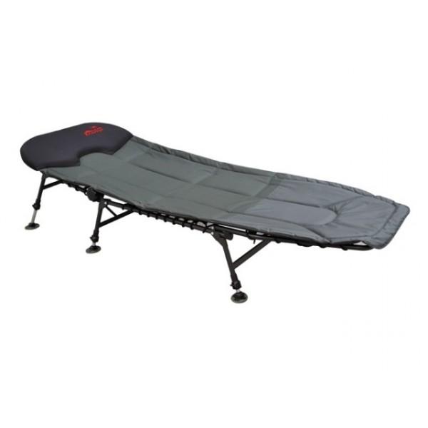 Раскладушка Tramp TRF-028 Carp KingУдобная, лёгкая и прочная кровать для любителей комфортного отдыха и сна на природе. Карповая раскладушка однозначно порадует своими характеристиками любителей рыбалки. Оборудована мягким матрасом на эластичной шнуровке с подголовником из микрофлиса. Вы сможете удобно отрегулировать положение наклона спины для максимального комфорта. Шесть регулируемых ножек позволяют установить кровать на любой неровной поверхности. Большая комфортная и прочная кровать-ракладушка пригодится не только для отдыха на даче. Универсальная модель - незаменима в случае неожиданного приезда гостей. Компактно складывается, легко регулируется и занимает мало места. Дополнительно можно приобрести чехол для хранения и переноски.<br><br>Вес кг: 11.70000000