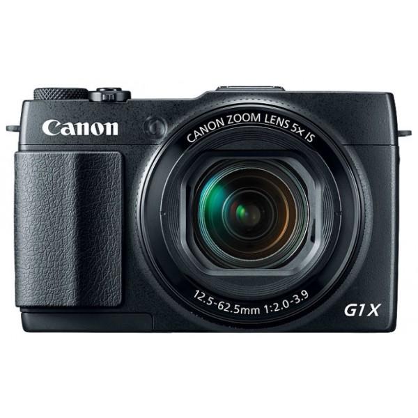 Компактный фотоаппарат Canon PowerShot G1 X Mark IIБлагодаря большому датчику изображения и быстрому зум-объективу f/2 камера PowerShot G1 X Mark II обладает производительностью и универсальностью цифровой зеркальной фотокамеры в компактном корпусе.<br><br>Вес кг: 0.60000000