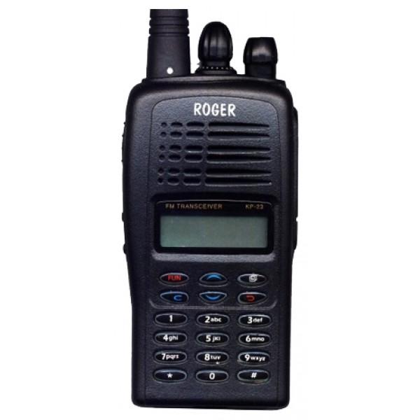 Радиостанция Roger KP-23 портативнаярация LPD/PMR, мощность передатчика 0.4 Вт, радиус действия 15 км,питание Li-Ion-аккумулятор, вес 275 г, количество каналов 77, кодирование CTCSS, DCS, подключение гарнитуры<br><br>Вес кг: 0.30000000