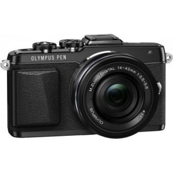 Фотоаппарат Olympus Pen E-PL7 Kit 14-42 EZ White/Silver/Black со сменной оптикойфотокамера с поддержкой сменных объективов, байонет Micro Four Thirds, объектив в комплекте, матрица 17.2 МП (17.3 x 13.0 мм), съемка видео Full HD, поворотный сенсорный экран 3, Wi-Fi, вес камеры без объектива 465 г<br><br>Вес кг: 0.50000000