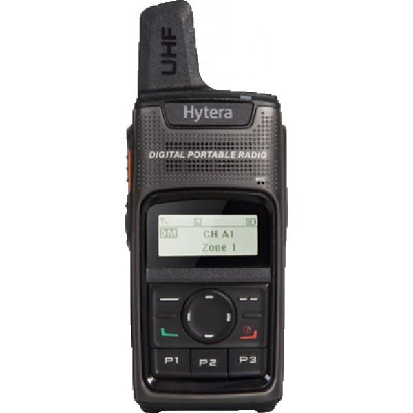 Радиостанция Hytera PD375Цифровая радиостанция для бизнеса. Компактный размер: размер 107x55x23мм, вес165г. Порт микро-USB для подзарядки.<br><br><br>Четыре программируемые кнопки<br><br>Удобная зарядка от микро-USB.<br><br>Креативный дизайн антенны делает радиостанцию еще более компактной.<br><br>В цифровом режиме радиостанция PD3 работает не менее 12 часов при рабочем цикле 5-5-90.<br><br>Поддержка двух режимов, аналогового и цифрового, позволяет плавно переходить с аналогового на цифровой.<br><br>Поддержка различных голосовых вызовов:персональный, групповой вызов, вызов всех радиостанций.<br><br>Цифровая радиостанция – отличное качество звука!<br><br>Улучшенные цифровые возможности при более низкой стоимости.<br><br>Вес кг: 0.20000000